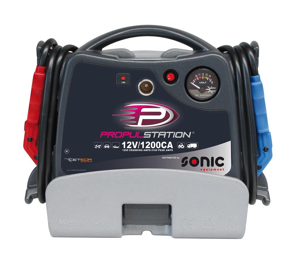 AC 12V 1200CA Propulstation met oplaadstation voor garage-th
