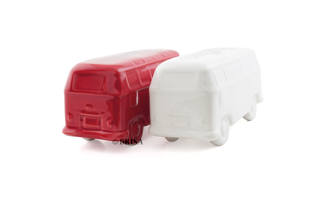 VW T1 3D zout & peper set wit-rood