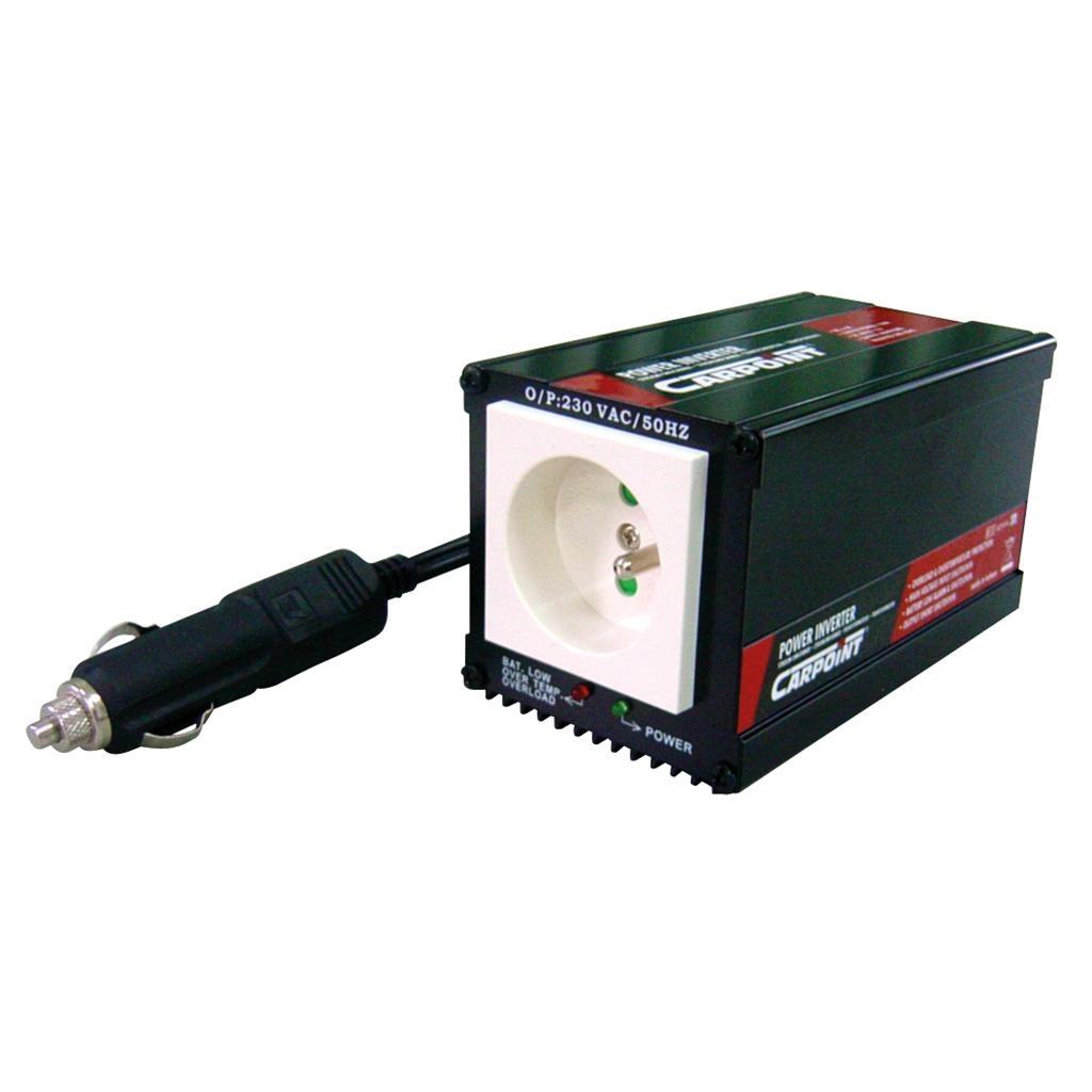 Carpoint Omvormer 12V>230V, 150-300W (℃Voor gebruik in België en Frankrijk) 0510321