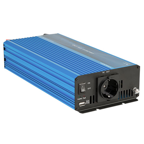 Omvormer 24 Volt DC -> 230 Volt AC 1000 Watt