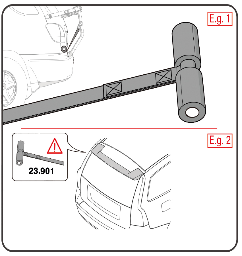 Adapter kit voor Frame fietsendrager