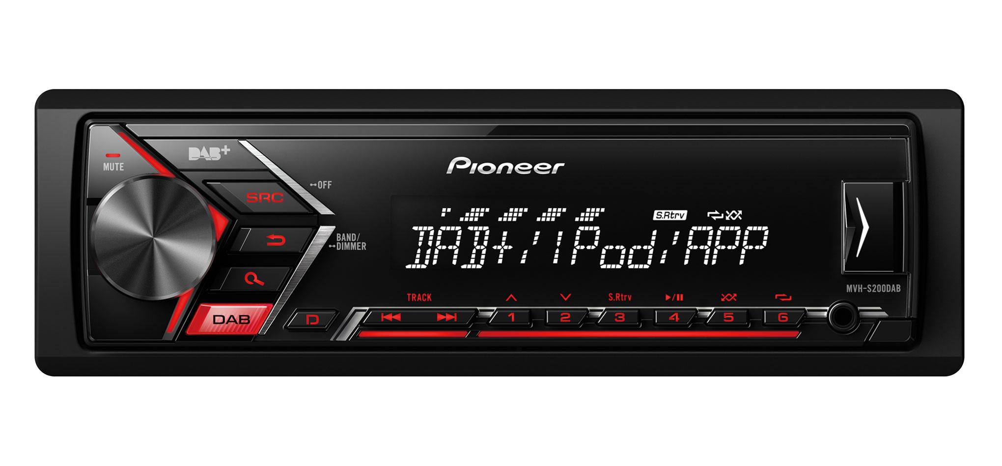 Pioneer MVH-S200DAB autoradio DAB-DAB+-USB-Aux