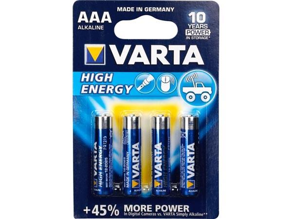 HIGH-ENERGY ALKALINE AAA / LR03 1.5V-1100mAh 4903.121.414 (4st/bl)