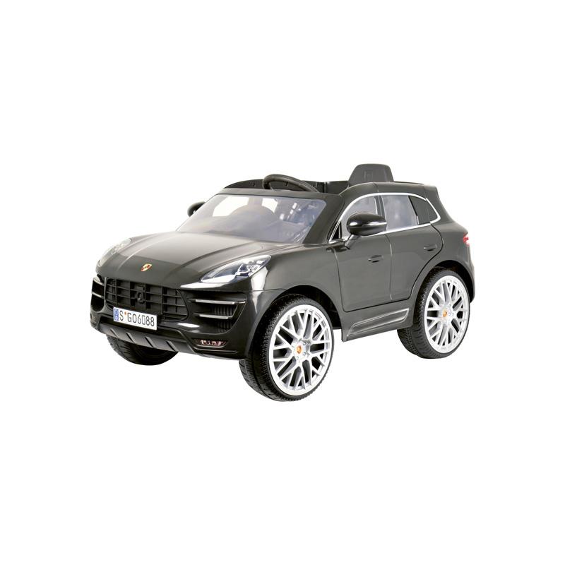 Accu-Auto Porsche Macan Zwart 12V incl. MP3 en afstandsbediening vanaf 3 jaar