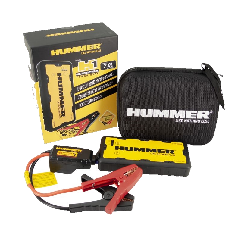 Hummer H1 Mini Jumpstarter-Lader 15.000mAH+LED Lamp