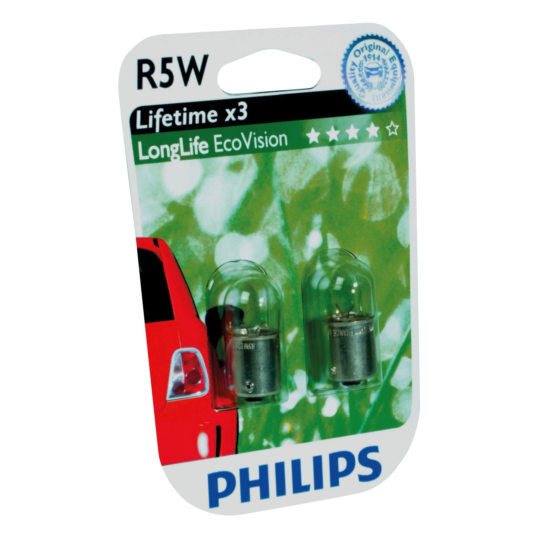 Philips 12821LLECOB2 BA15s R5W EcoVision 5W 12V set 2 stuks