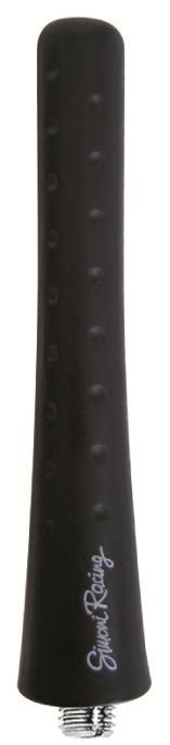 Simoni Racing Aluminium Antenne Rubber Zwart Lengte 8cm