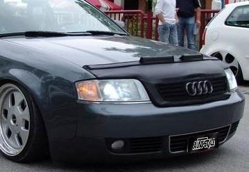 Motorkapsteenslaghoes Audi A6 B4 1998-2004 zwart