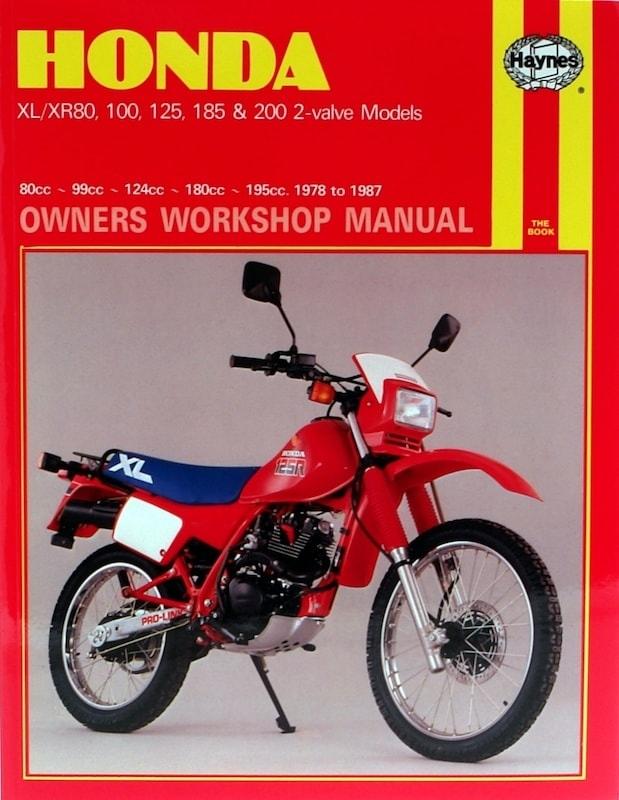 Honda XL-XR 80, 100, 125, 185 & 200 2-valve Models (78 87)