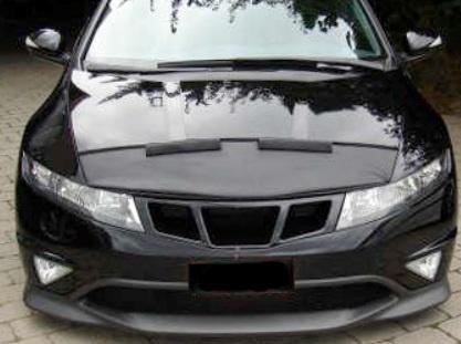 Motorkapsteenslaghoes Honda Civic 2001-2005 zwart