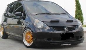 Motorkapsteenslaghoes Honda Jazz 2003-2008 carbon-look