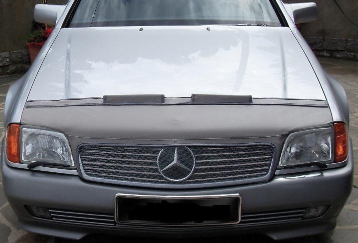 Motorkapsteenslaghoes Mercedes SL W129 1989-1992 carbon-look