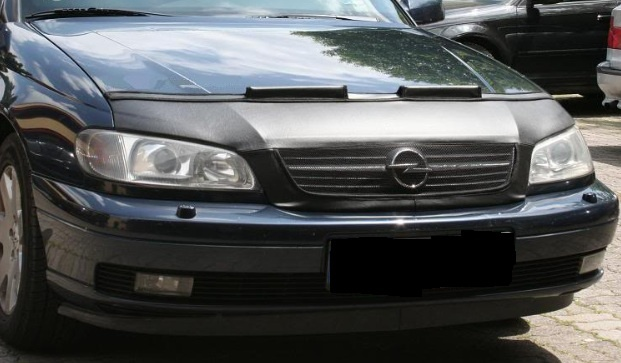 Motorkapsteenslaghoes Opel Omega B 2000-2004 carbon-look