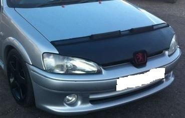 Motorkapsteenslaghoes Peugeot 106 1996-2003 carbon-look
