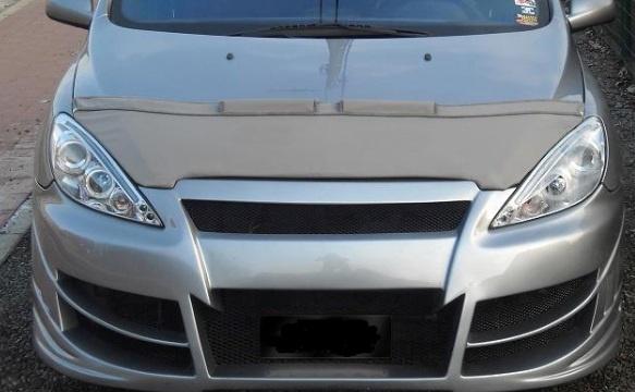 Motorkapsteenslaghoes Peugeot 307 2001-2005 zwart