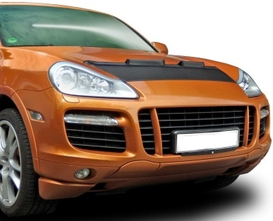 Motorkapsteenslaghoes Porsche Cayenne Turbo 2005-2008 carbon-look