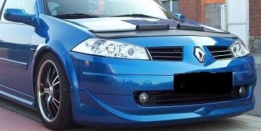 Motorkapsteenslaghoes Renault Megane II 2006-2008 zwart