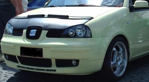 Motorkapsteenslaghoes Seat Arosa facelift 2000-2004 carbon-look