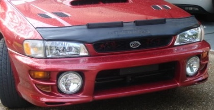 Motorkapsteenslaghoes Subaru Impreza 1996-2010 carbon-look