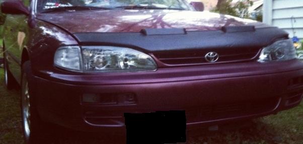 Motorkapsteenslaghoes Toyota Camry 1997-1998 carbon-look