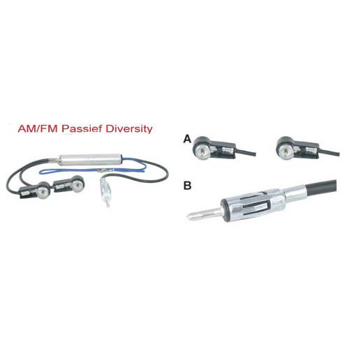 AM-FM Diversity antenne adapter passief