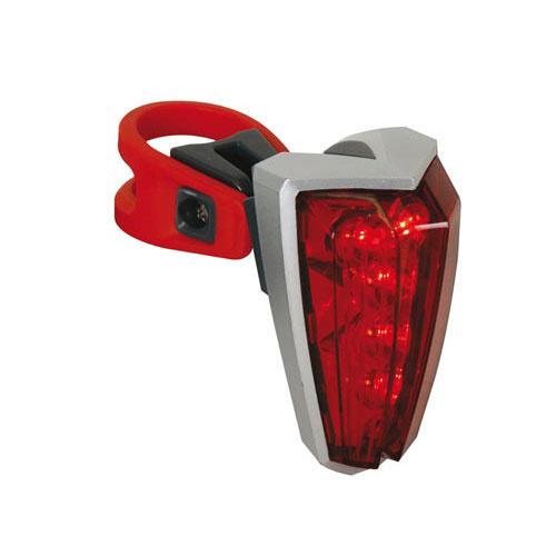 Fietsachterlicht 5 rode leds, 180° zichtbaarheid