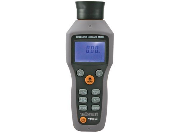 Ultrasone afstandsmeter + laserpointer