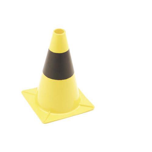 Geel-zwarte verkeerskegel 30cm