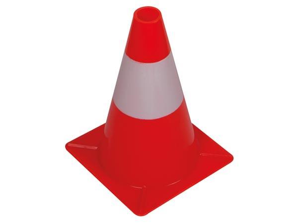 Rood-witte verkeerskegel 30cm
