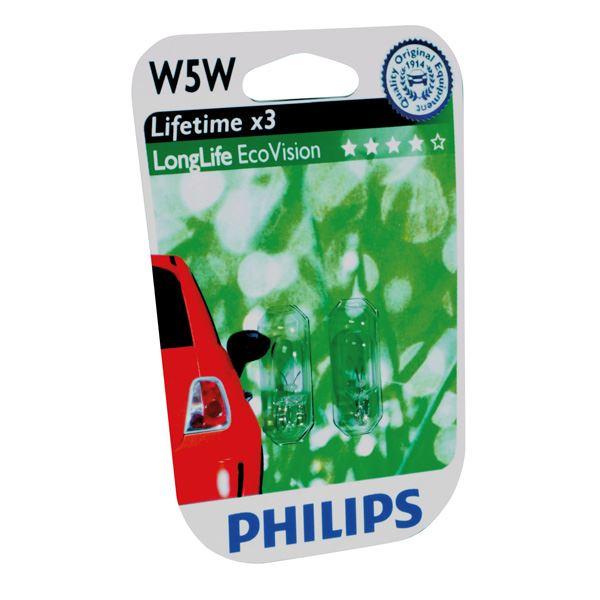 Philips 12961LLECOB2 W5W EcoVision 5W 12V set 2 stuks
