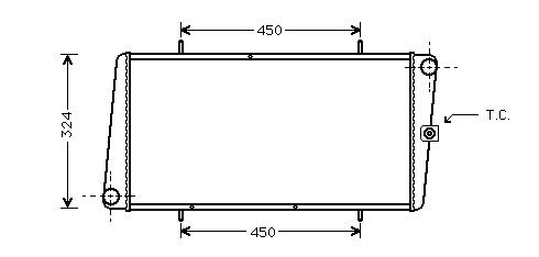 Radiateur Maestro-montego 84- Mt