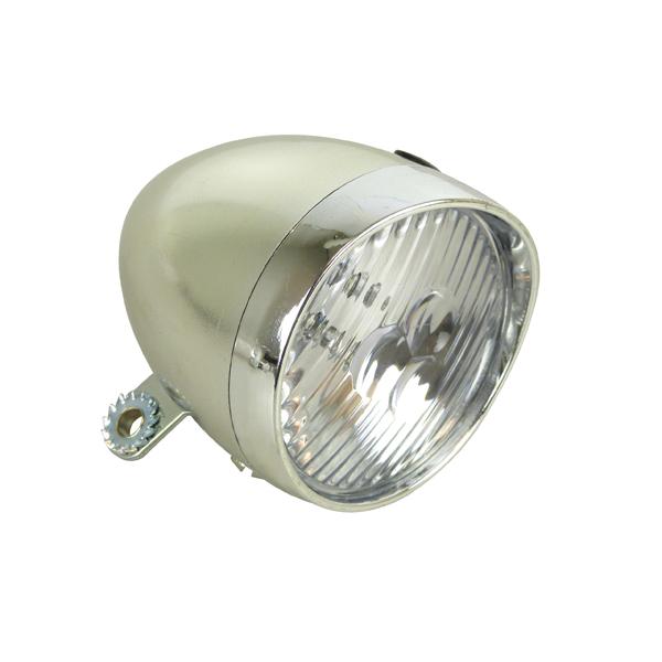 Fietslamp voorlicht LED Classic Chrome