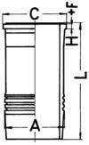 KS Kolbenschmidt Cilindervoering 89895110