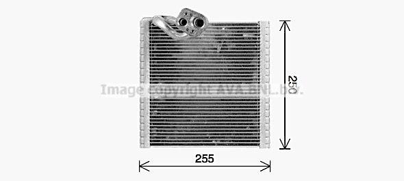 Ava Quality Cooling Verdamper, airconditioning RTV668