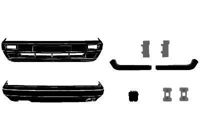 Voorbumper Kompleet Kit 8-89+ Golf