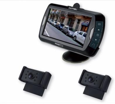 Digitaal draadloos achteruitrijcamera systeem 4,3 inch IR 2 camera's