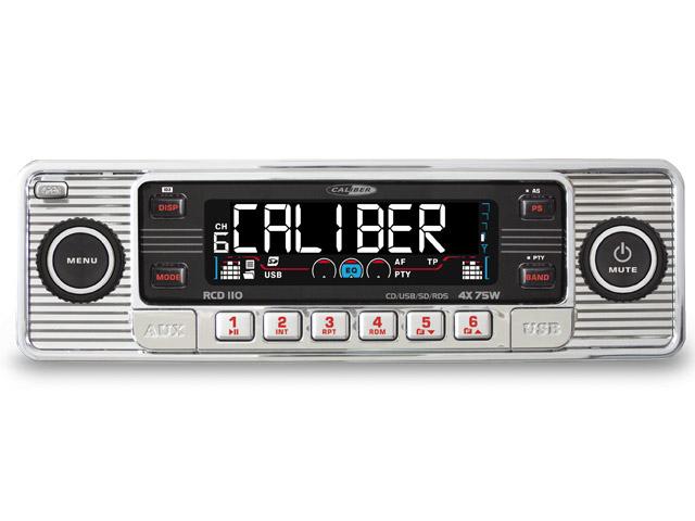CD-speler, FM-AM tuner met USB poort, SD kaartlezer en AUX-Ingang