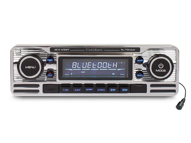 CD-speler, FM tuner met USB poort, SD kaartlezer, AUX-Ingang en Bluetooth