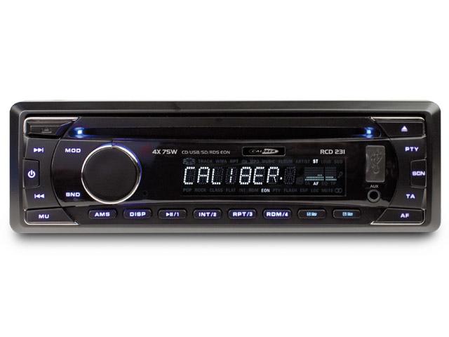 CD-speler, FM tuner met USB poort, SD kaartlezer en AUX-Ingang