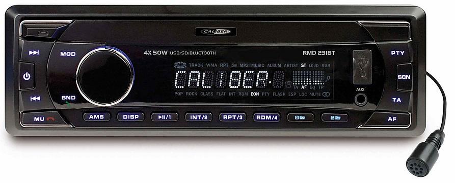 FM tuner met USB poort, SD kaartlezer, AUX-Ingang en Bluetooth (zonder CD speler)