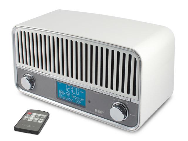 Retro DAB+-FM ontvanger met Bluetooth® draadloze technologie